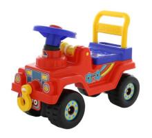 Детская игрушка каталка Джип 4х4 - №4 (красный) арт. 71828. ПОЛЕСЬЕ