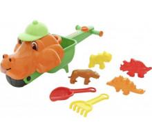 Дачная тачка «Малыш Дин» с комплектом игрушек в песочницу Cavallino арт. 35721. ПОЛЕСЬЕ