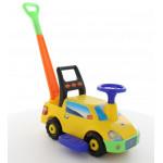 """Автомобиль-каталка """"Пикап"""" с ручкой (жёлтый) арт. 63021. ПОЛЕСЬЕ"""