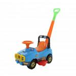 Автомобиль Джип-каталка с ручкой - №2 (голубой) арт. 62932. ПОЛЕСЬЕ