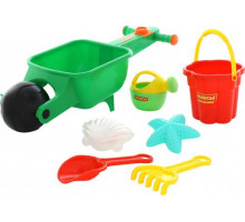 Тачка с игрушками для песочницы «Набор №337»  арт. 35691. ПОЛЕСЬЕ
