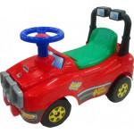 Каталка автомобиль джип-каталка со звуковым сигналом (красный) арт. 62857. ПОЛЕСЬЕ