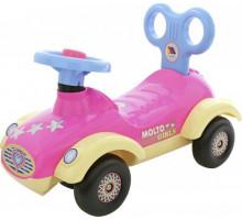 """Каталка-автомобиль для девочек """"Сабрина"""" (со звуковым сигналом) арт. 7970. ПОЛЕСЬЕ"""