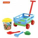 Тележка с игрушками для песочницы «Набор № 420» 5 предметов арт. 38586. ПОЛЕСЬЕ