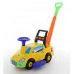 """Автомобиль-каталка """"Пикап"""" с ручкой - №3 (жёлтый) арт. 72023. ПОЛЕСЬЕ"""