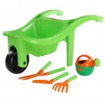 Тачка №3 с игрушечным инвентарем для юного садовника набаор №605 арт. 63212. ПОЛЕСЬЕ
