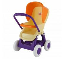 Коляска для кукол прогулочная 4-х колёсная (в пакете) Цвет бежевый. арт. 48134. ПОЛЕСЬЕ