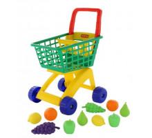 Тележка для маркета + набор продуктов №7 (10 элементов) арт. 61911. ПОЛЕСЬЕ