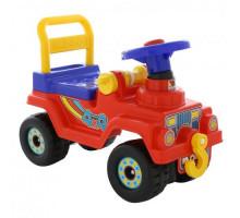 Детская каталка Джип 4х4 - №2 (без звукового сигнала, красный) арт. 62826. ПОЛЕСЬЕ