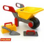 Тачка №4 с комплектом игрушек «Набор каменщика №2» арт. 42064. ПОЛЕСЬЕ