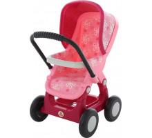 Коляска для кукол №2 прогулочная 4-х колёсная (в пакете). Цвет розовый арт. 48158. ПОЛЕСЬЕ