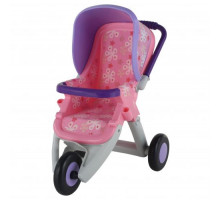 Коляска для кукол №2 прогулочная 3-х колёсная (в пакете) цвет розовый арт. 48141. ПОЛЕСЬЕ