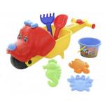 Тачка «Малыш Тяпа» с игрушками для песочницы Набор №340 арт. 35707. ПОЛЕСЬЕ