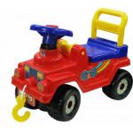 Детская каталка Джип 4х4 (красный) арт. 62796. ПОЛЕСЬЕ