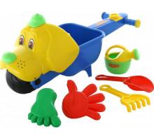Тачка «Малыш Бим» с игрушками для песка Cavallino набор №341 арт. 35714. ПОЛЕСЬЕ