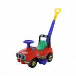 Автомобиль Джип-каталка с ручкой - №2 (красный) арт. 62949. ПОЛЕСЬЕ