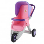 Коляска для кукол прогулочная 3-х колёсная (в пакете) цвет розовый арт. 48127. ПОЛЕСЬЕ
