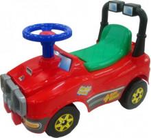 Автомобиль Джип-каталка (со звуковым сигналом) - №3 (красный) арт. 71859. ПОЛЕСЬЕ