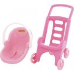 Коляска для кукол 2 в 1 «Pink Line» Palau Toys (в сеточке) арт. 44525. ПОЛЕСЬЕ