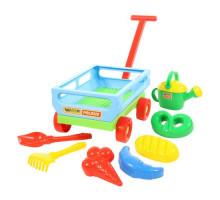 Тележка дачная с игрушками для песочницы «Набор № 484» Wader арт. 45720. ПОЛЕСЬЕ