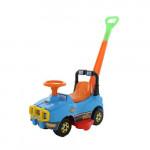 Автомобиль Джип-каталка с ручкой - №4 (голубой) арт. 71965. ПОЛЕСЬЕ