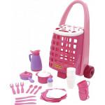 Забавная тележка + набор детской посуды (31 элемент) арт. 44389. ПОЛЕСЬЕ