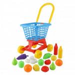 """Тележка """"Supermarket"""" №1 + набор продуктов (в сеточке) арт. 42989. ПОЛЕСЬЕ"""