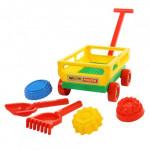 Игровой набор для песочницы с тележкой Wader №481 арт. 45690. ПОЛЕСЬЕ