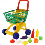 Тележка для маркета + набор продуктов №6 (19 элементов) арт. 61904. ПОЛЕСЬЕ