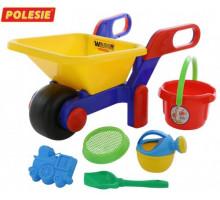 Тачка с игрушками для песка «Набор №445» Wader арт. 41838. ПОЛЕСЬЕ