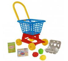 """Тележка """"Supermarket"""" №1 + набор продуктов №2 (в сеточке) арт. 67890. ПОЛЕСЬЕ"""