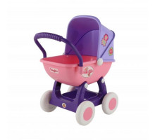 """Коляска для кукол """"Arina"""" 4-х колёсная (в пакете) цвет розовый арт. 48202. ПОЛЕСЬЕ"""