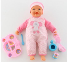 """Кукла """"Пупс"""": озвученная, кушает с ложечки (с набором для кормления) арт. 48081. Falca (Испания)"""