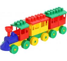 Конструктор - Паровоз с двумя вагонами арт. 2044. Полесье