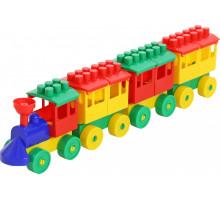 Конструктор - Паровоз с тремя вагонами арт. 2051. Полесье