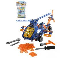 """Конструктор """"Изобретатель"""" - """"Вертолёт №2"""" (232 элемента) (в пакете) арт. 55033. Полесье"""