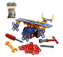 """Конструктор """"Изобретатель"""" - """"Самолёт №2"""" (144 элемента) (в пакете) арт. 55019. Полесье"""