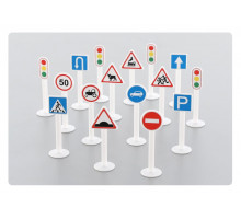 Набор дорожных знаков №1 (16 элементов) (в пакете) арт. 64196. Полесье