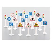 Набор дорожных знаков №2 (20 элементов) (в пакете) арт. 64202. Полесье
