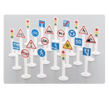 Набор дорожных знаков №3 (24 элемента) (в пакете) арт. 64219. Полесье
