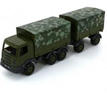 """""""Престиж"""", автомобиль бортовой тентовый военный с прицепом (РБ) арт. 49155. Полесье"""