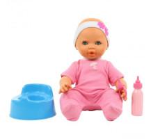 """Детская игрушка кукла Пупс """"Забавный"""" (35 см) с соской, бутылочкой и горшком (в пакете) арт. 71361. Полесье"""