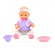 """Детская кукла игрушка Пупс """"Забавный"""" (35 см) с соской и набором для кормления (в пакете) арт. 71484. Полесье"""