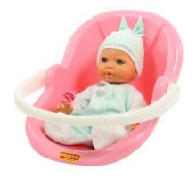 """Детская игрушка кукла Пупс """"Забавный"""" (35 см) с соской и переноской (в пакете) арт. 71491. Полесье"""