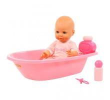 """Детская кукла игрушка Пупс """"Забавный"""" (35 см) с соской и набором для купания (в пакете) арт. 71507. Полесье"""