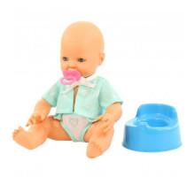 """Детская игрушка кукла Пупс """"Забавный"""" (35 см) с соской и горшком (в пакете) арт. 73051. Полесье"""
