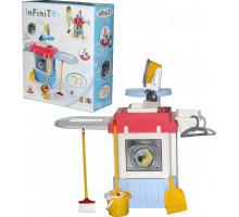 Детский набор для девочек INFINITY premium №1 (содержит электронный кран с насосом, вращающийся барабан) (в коробке) арт. 42330. Полесье