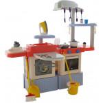 Детская кухня с прачечным набором  INFINITY premium №4 (световые, звуковые эффекты, насос на воду)   (в коробке) арт. 42361. Полесье