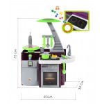 Детская кухня Laura с варочной панелью  (кухня со звуковыми и световыми эффектами) арт. 49896. Полесье