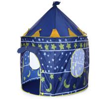 Детская игровая палатка Замок 105x135 см. Детский шатер. Цвет синий. Арт. 9999С